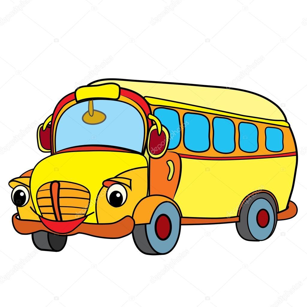 Tecknad Buss